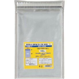 カウネット OPP袋テープ付A5用 | A5サイズ OPP袋 透明 クリア テープ付き 透明袋 梱包 ラッピング用品 袋 梱包資材 カウモール