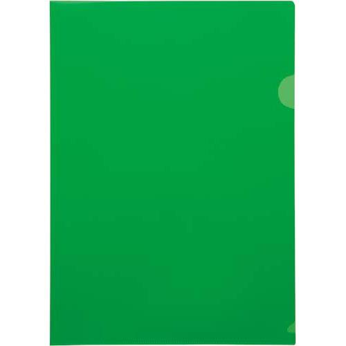 カウネット 不透明クリヤーホルダーA4グリーン 10枚