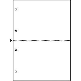 ヒサゴ マルチプリンタ帳票 A4 白紙2面4穴 100枚