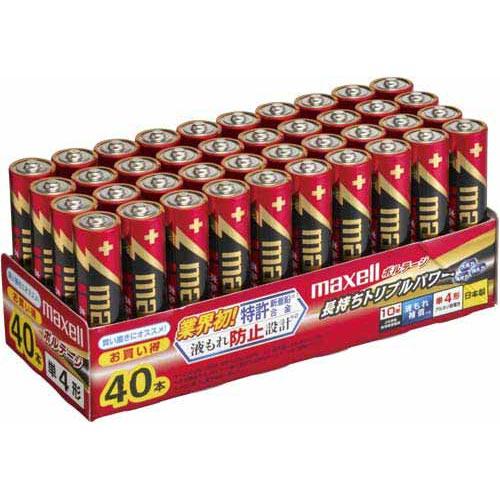 日立マクセル 乾電池 アルカリ ボルテージ 単4 40本入