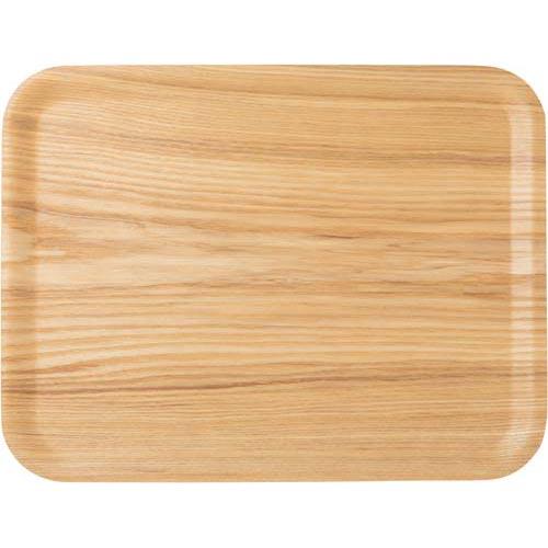 アサヒ興洋 ノンスリップ木製トレー ナチュラル L