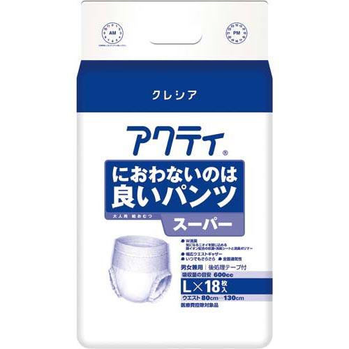 日本製紙クレシア アクティにおわないパンツスーパーL 18枚