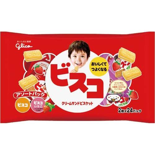 江崎グリコ ビスコアソートパック 24袋入×3