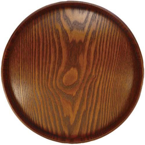 アサヒ興洋 木製丸盆 30cm
