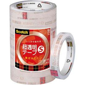 スリーエムジャパン スコッチ 超透明テープS 15mm幅10巻