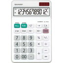 シャープ 電卓 チルト ナイスサイズ EL−N432X