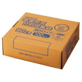オルディ 高密度容量表示事業所用ゴミ袋90L箱 100枚