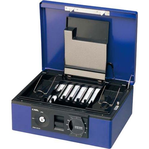 カール事務器 手提金庫 CB−8760 A4 ブルー