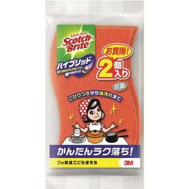 スリーエムジャパン スコッチブライト ハイブリッド貼合せ オレンジ2個