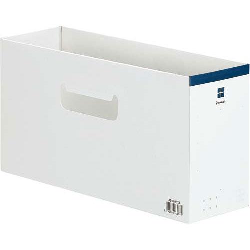 「カウコレ」プレミアム ローライズファイルボックス ネイビー×10 | 整理箱 ファイル フォルダ ボックス 文具 文房具 収納 整理 書類 収納 書類整理 仕分け ステーショナリー 事務用品