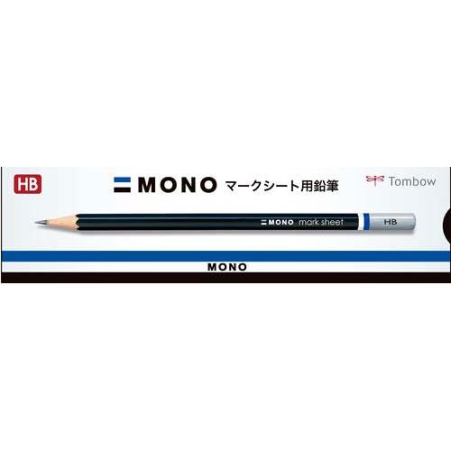 トンボ鉛筆 モノマークシート用鉛筆 HB 紙箱入1ダース12本