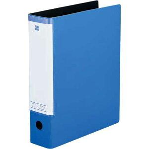 「カウコレ」プレミアム スリットパイプ式ファイル A4縦背幅69mmブルー