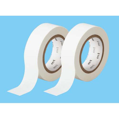 カモ井加工紙 マスキングテープ マットホワイト 2巻