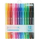 トンボ鉛筆 水性サインペンプレイカラーK 12色セット