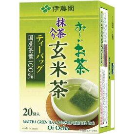 伊藤園 おーいお茶ティーバッグ 抹茶入玄米茶 20袋入×3