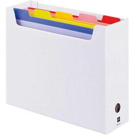 「カウコレ」プレミアム 5分類ファイルボックス A4横 ネイビー | カウモール フォルダ ファイル フォルダー バインダー 文具 文房具 収納 整理 書類 収納 書類整理 仕分け ステーショナリー 事務用品 A4