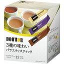 ドトールコーヒー ドトール 3種の味わいバラエティ 15本×3