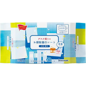 「カウコレ」プレミアム デスク周りのお掃除雑巾シート 大判厚手 20枚×5