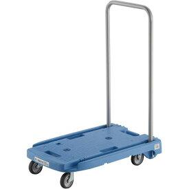 トラスコ中山 小型樹脂台車こまわり君(省音タイプ)ブルー