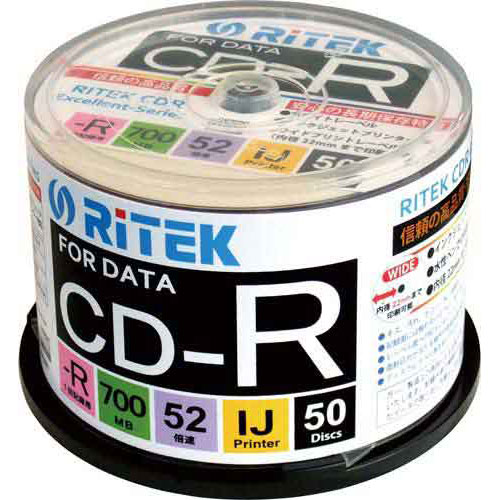 CD−Rデータ用 52倍速 IJ対応 50枚SP