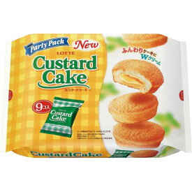 ロッテ カスタードケーキ 9個入×3