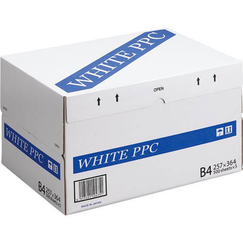 コクヨ WHITE PPC B4 1箱(500枚×5冊)関連ワード【コピー用紙 印刷用紙 プリンター用紙】