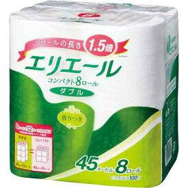 大王製紙 エリエールコンパクト ダブル45m 8個入×8