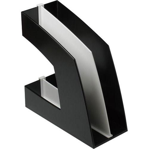 ソニック ファイルボックス(仕切板付)A4 黒