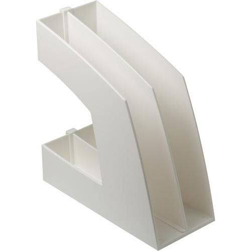 ソニック ファイルボックス(仕切板付)A4 白