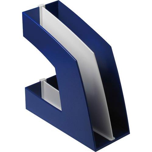 ソニック ファイルボックス(仕切板付)A4 青 5個