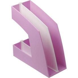 ソニック ファイルボックス(仕切板付)A4 ピンク