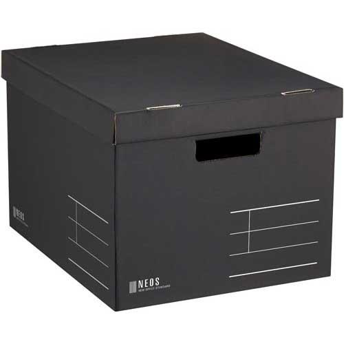 コクヨ 収納ボックス<NEOS>Lサイズ・フタ付き黒
