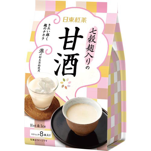 日東紅茶 七穀麹入りの甘酒 8本入×3