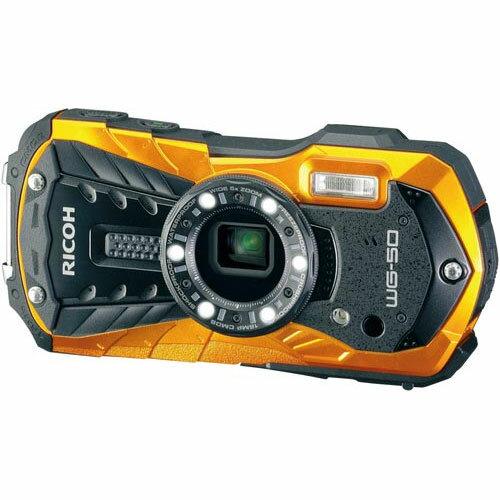 リコー 防水防塵デジタルカメラオレンジ