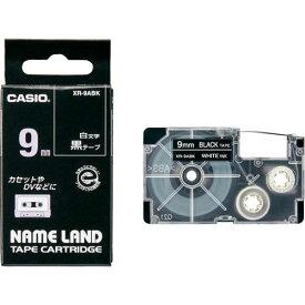 カシオ ネームランド 黒色テープ 9mm 白文字