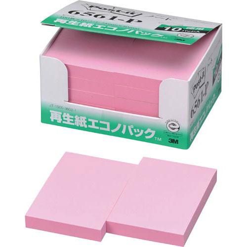 スリーエムジャパン ポスト・イット再生紙エコノP75×50 赤10冊