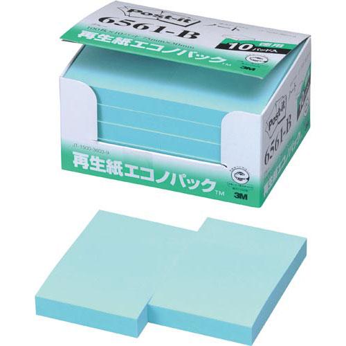 スリーエムジャパン ポスト・イット再生紙エコノP75×50 青10冊