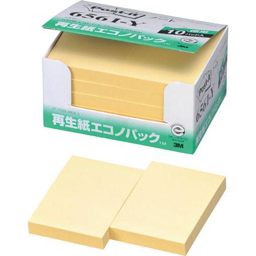 スリーエムジャパン ポスト・イット再生紙エコノP 75×50 黄10冊