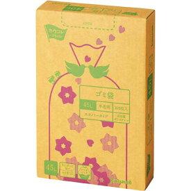 カウネット 高密度薄口ゴミ袋 箱タイプ 45L 300枚 | カウモール ゴミ袋 ごみ袋 レジ袋 ビニール袋 日用品 生活雑貨 大掃除 掃除用品