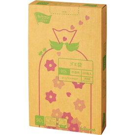 カウネット 高密度薄口ゴミ袋 箱タイプ 90L 200枚 | カウモール ゴミ袋 ごみ袋 レジ袋 ビニール袋 日用品 生活雑貨 大掃除 掃除用品