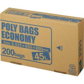 オルディ ポリバツグエコノミーBOX 低 45L透明200枚関連ワード【ビニール袋 ポリ袋 レジ袋】