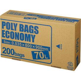 オルディ ポリバツグエコノミーBOX 低 70L透明200枚関連ワード【ビニール袋 ポリ袋 レジ袋】