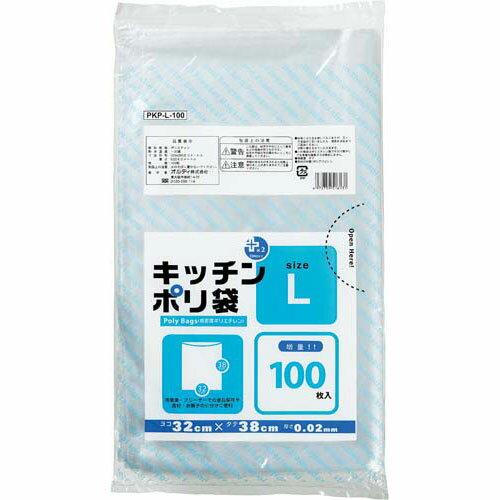 オルディ プラスプラスキッチンポリ袋L 100枚関連ワード【ビニール袋 ポリ袋 レジ袋】