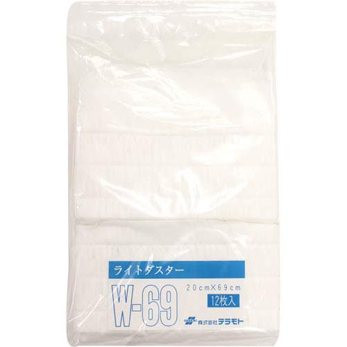 テラモト ライトダスター吸水W替シート600mm(12枚入)