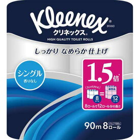 日本製紙クレシア クリネックスコンパクト シングル90m 8個×8
