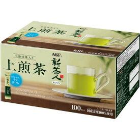 AGF 新茶人 宇治抹茶入り煎茶スティック 100本入×2
