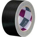 「カウコレ」プレミアム 手が痛くなりにくいカドなしカラー布テープ黒 30巻