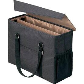 「カウコレ」プレミアム 外出に使えるミーティングバッグ 黒×薄茶