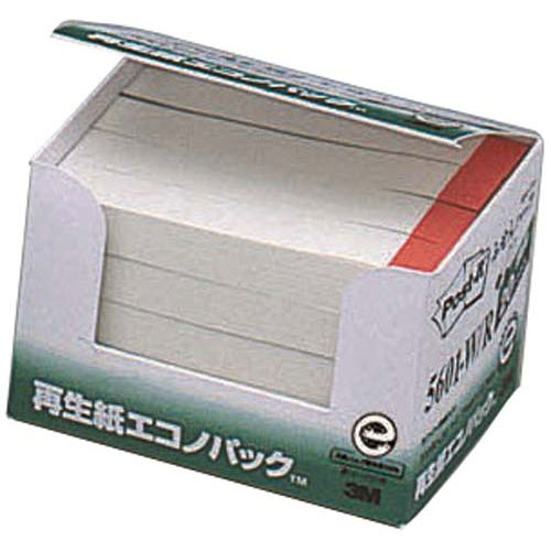 スリーエムジャパン ポストイット 再生紙ふせん75×12.5赤帯20冊