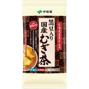 伊藤園 黒豆入り国産むぎ茶ティーバッグ 30袋×3